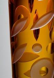 Vase Watermusic - detail (amber)