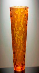 Vase Danae -( amber ) unique piece