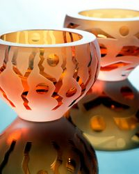 Bowls Boboli and Garda - (amber)