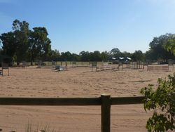 View across new showjump arena