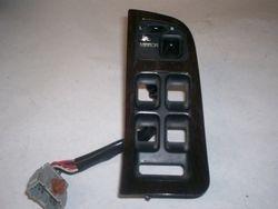 1991-1995 Legend sedan master window switch trim in dark wood with mirror switch