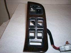 1991-1995 Legend sedan master window switch burl wood trim with mirror switch