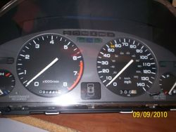 1991-1995 Acura Legend coupe cluster for manual transmission