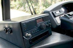 Emergency radio for tourist bus in the South Island of new Zealand