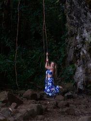 Elizabeth Ann swings....