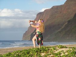 Hula in the evening...