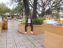 Miguel at the plaza in Jarabacoa