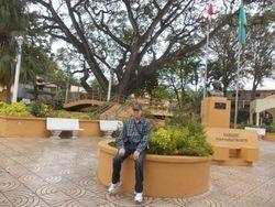 Gilberto at the plaza in Jarabacoa