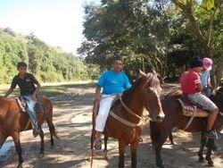 Horseback riding at La Confluenza
