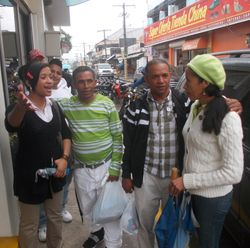 Meeting family in Jarabacoa