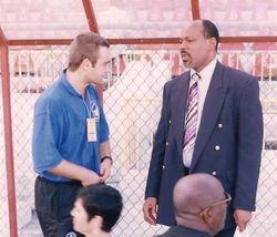 With Epiphane Joseph - President USVIFA