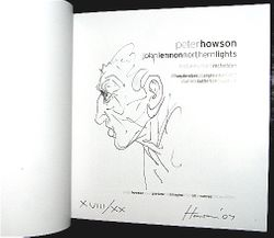 (tap image to enlarge) Limited Edition Sketch in The John Lennon Exhibition Works by Peter Howson