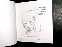 (tap image to enlarge) this picture is SOLD-Limited Edition Sketch in The John Lennon Exhibition Works by Peter Howson