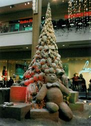 Christmas Tree Sand Sculpture