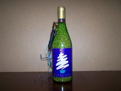 Holiday-Themed Champagne Bottle
