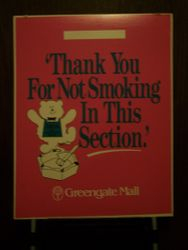 No Smoking Floor Signage