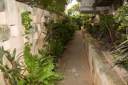 Passage to the guest house