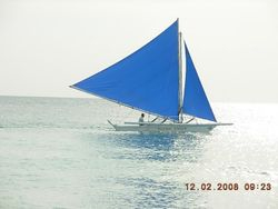 Sailing Boats - her ved Borocay