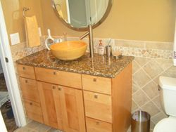 Natural Maple Vanity with Granite Counter Top