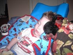 Cooper sleeping