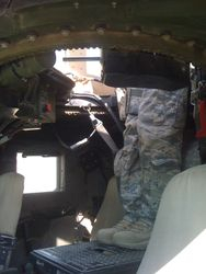 US Air Force M1116 Afghanistan partial interior
