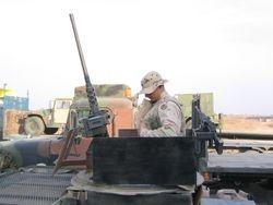 2168th guntruck turret, Iowa ANG, BIAP mission, 27 FEB 2005