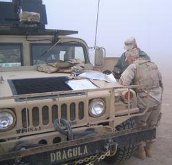 2168th guntruck, Iowa ANG, BIAP mission, Camp Navistar Kuwait 26 FEB 2005 (1)