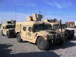 424 TC, HMMWV Guntrucks, Arifjan Kuwait, 8 APR 2005