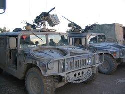 502nd BCT HMMWVs, 22 DEC 2003, Mosul Iraq