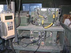 BG Schloesser's command HMMWV interior Mosul AAF Iraq, 22 DEC 2003  (1)