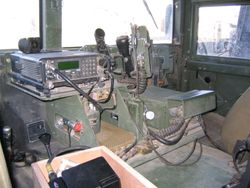 BG Schloesser's command HMMWV interior Mosul AAF Iraq, 22 DEC 2003  (2)