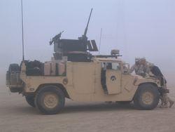 Foggy Morning.2, 2168th guntruck, Iowa ANG, BIAP mission, 26 FEB 2005