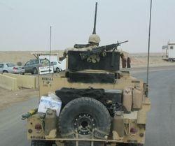 rear view 2168th guntruck, Iowa ANG, BIAP mission, 26 FEB 2005