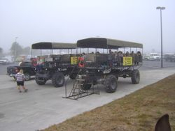 Billy Swamp Safari Buggies for the non-riders.