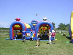 Bounce house rental was donated.