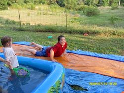 JASON ON WATER SLIDE