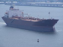 TANKER UO THE COOPER RIVER