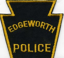 A POLICE BADGE FROM EDGEWORTH , PA