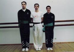 Alunos do Mestre Nelson Barroso participantes no Primeiro Curso de Instrutores ano de 1993.