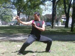 Jorge Barbosa efectuando Chuin Nau.