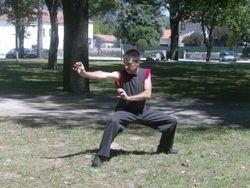 Rui Ferreira efectuando Chuin Nau.