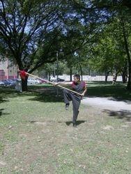 Rui Ferreira efectuando Forma da Lança.