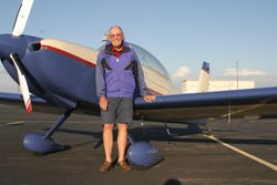 Clyde Cable and his RV 8