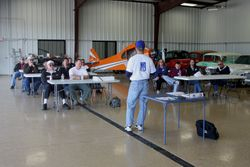 Meeting in RIck Nutt's Hangar
