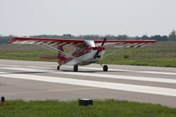 Tony Johnstone's Super D on takeoff roll