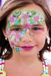 Flowers Face Painting