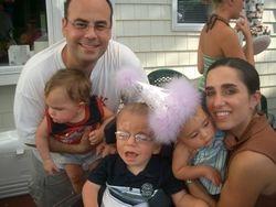 1st birthday family photo