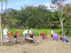 Diging the foundation in the HOT Jungle Sun