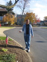 Walking to the polls!