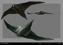 Romulan swift transport and fighter